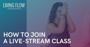 Facebook graphic for joining live-stream classes